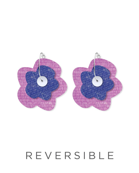 Candice Perese Big Flower Hoops