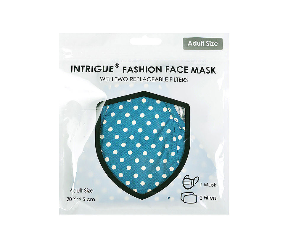 Teal Polkadot Face Covering