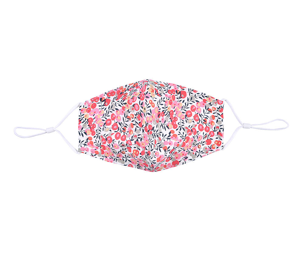 Cora Pink Floral Face Covering