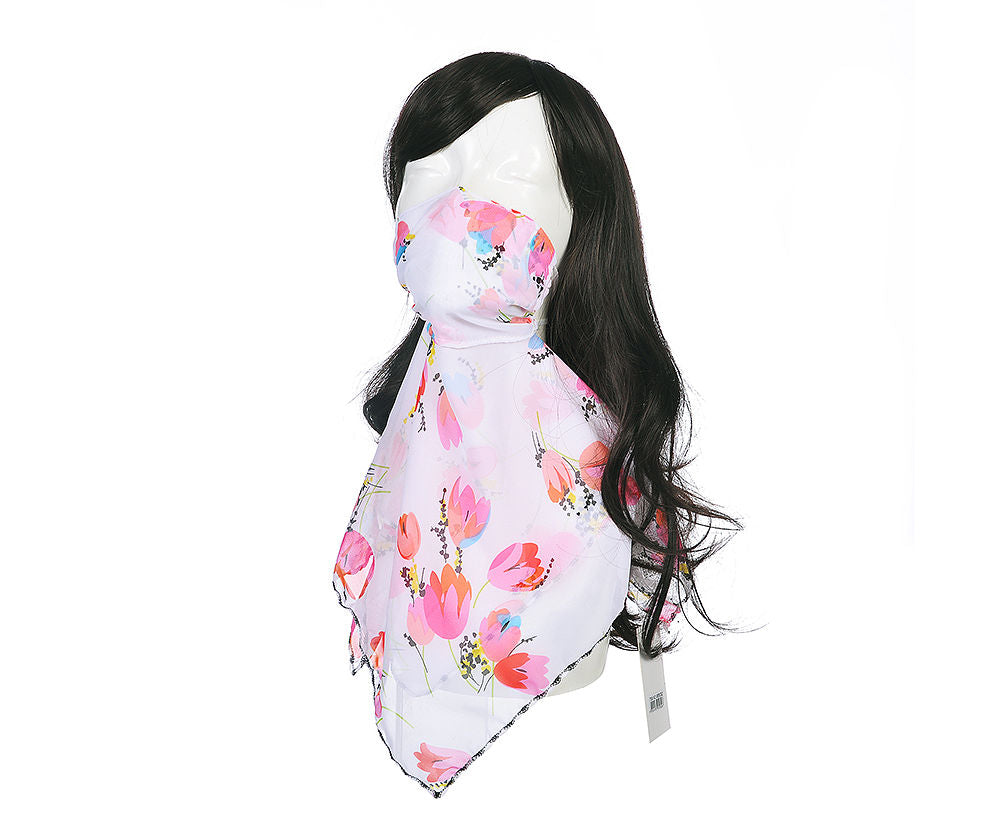 Floral Bright Face Scarf