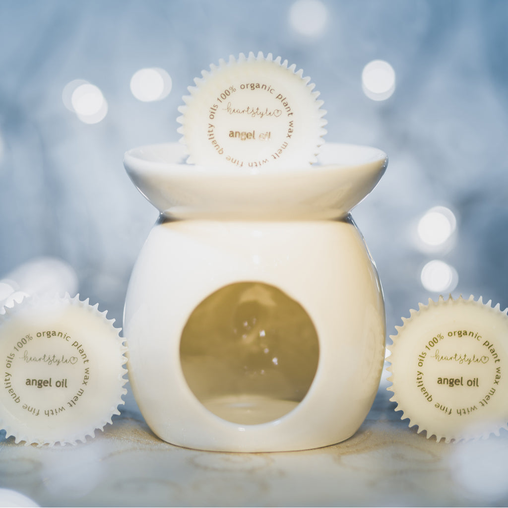 Three Angel Oil Wax Melt & Ceramic Oil Burner Gift Pack