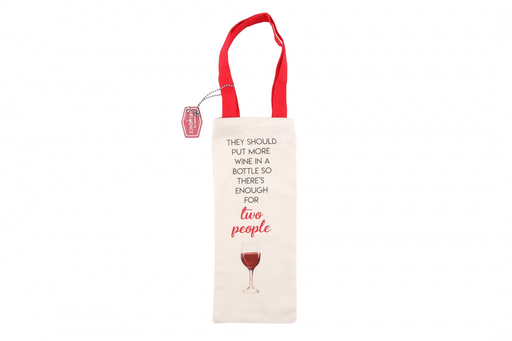 More Wine In The Bottle Reusuable Canvas Bag