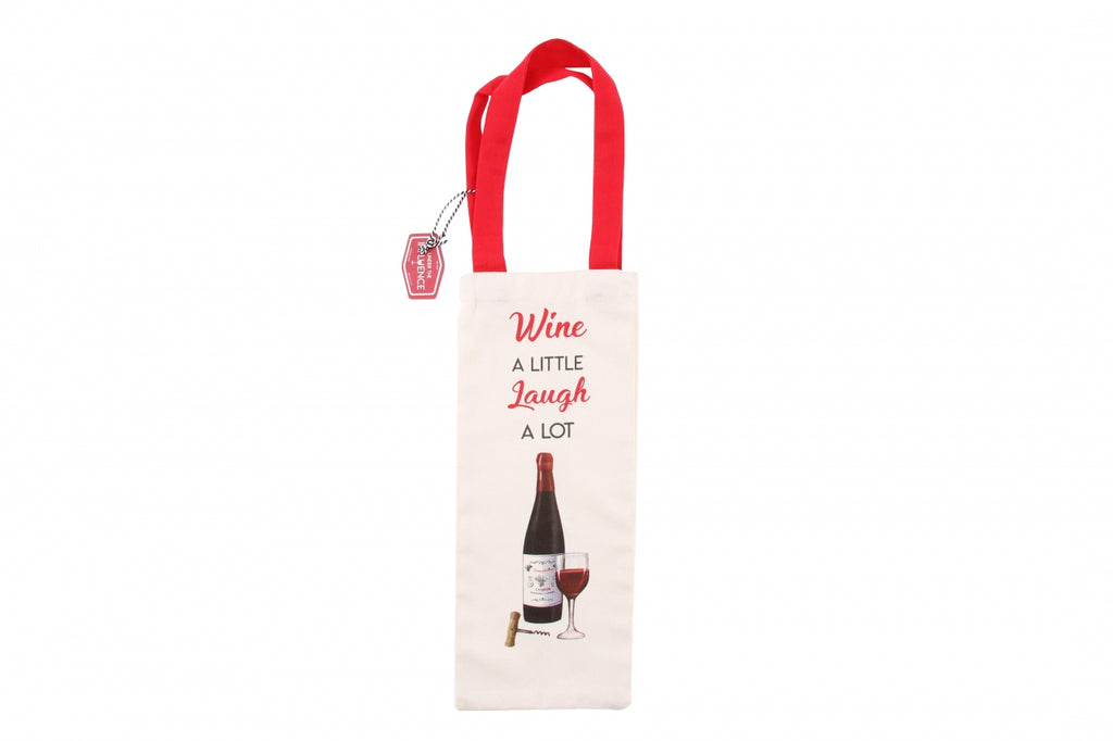 Wine A Little Reusuable Canvas Bag