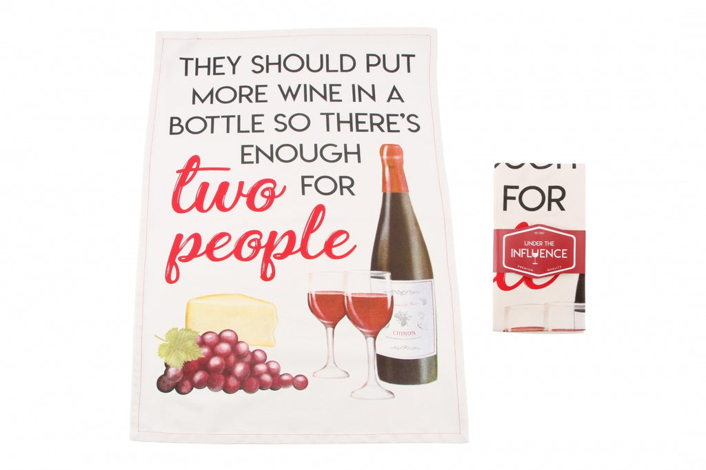 They Should Put More Wine Tea Towel