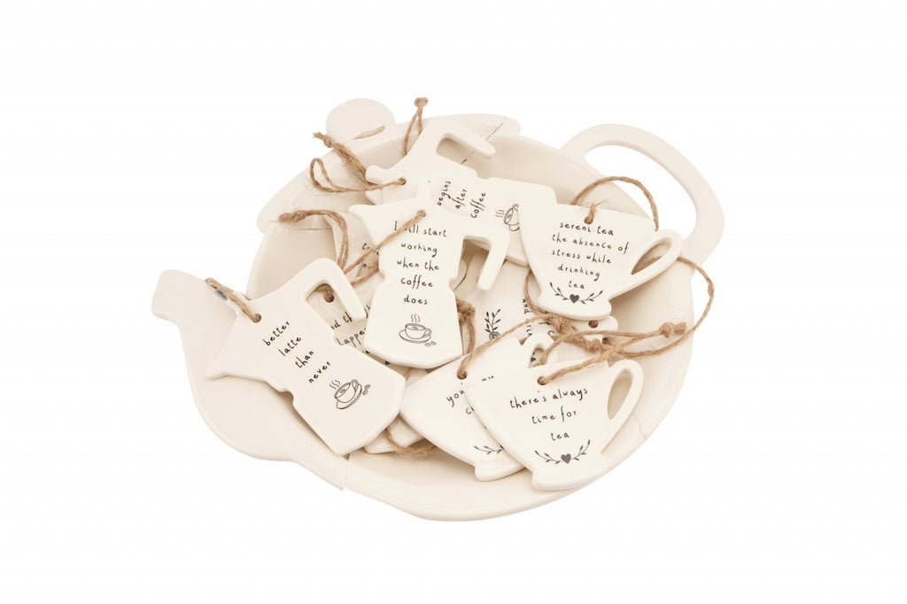 Tea Coffee Ceramic Hangers