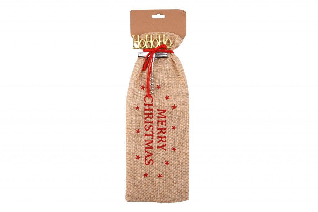 Merry Christmas Bottle Bag & Bottle Opener