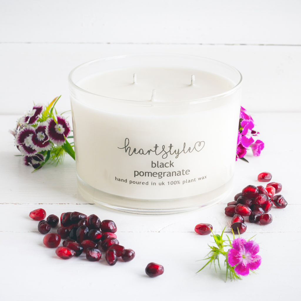 Black Pomegranate 3 Wick Candle