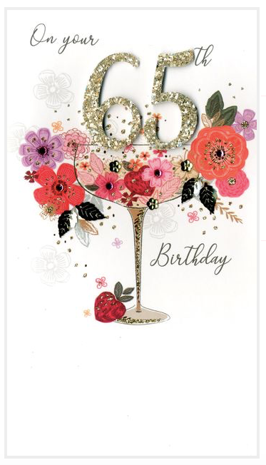 65 Birthday Card