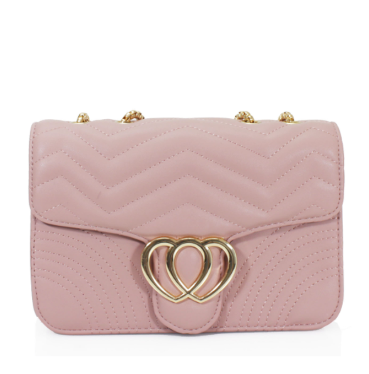 Heart Padded Cross Body Bag  Various Colours