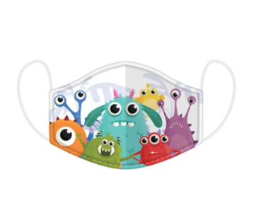 SMALL SIZE - PERFECT FOR KIDS - Monsters Face Covering