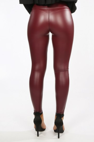 Laura Leather Look Leggings