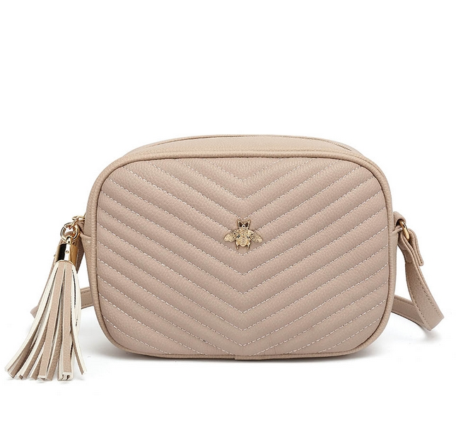 Bella Bee Messenger Bag NUDE