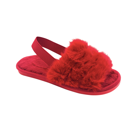 Lady Red Fluffy Slides