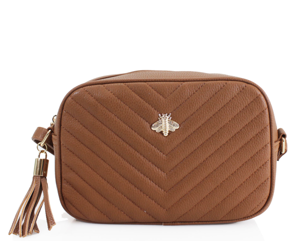 Bella Bee Messenger Bag TAN