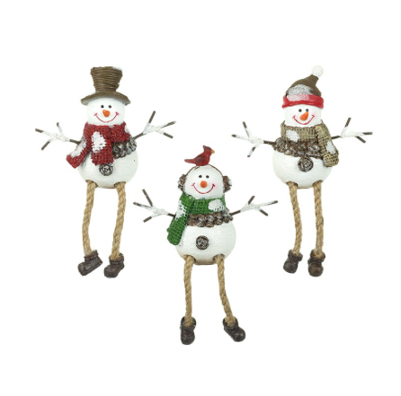Sitting Snowmen Mix Of 3