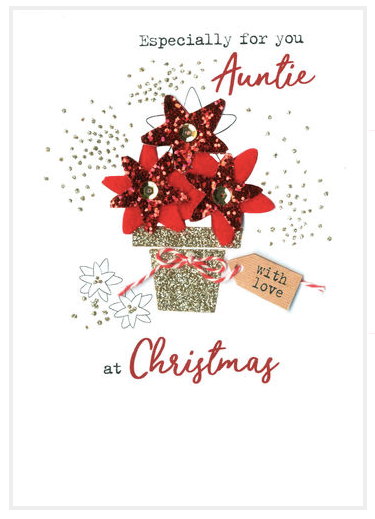 Especially for you Auntie at Christmas Card