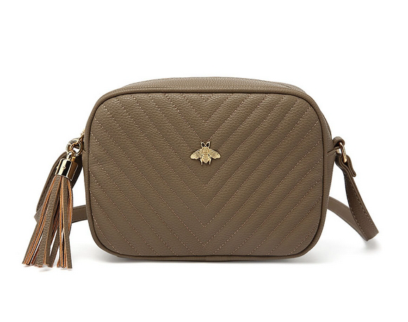 Bella Bee Messenger Bag Taupe