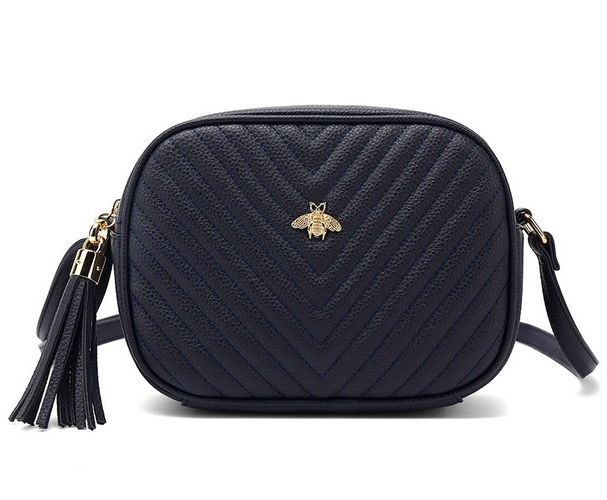 Bella Bee Messenger Bag Navy