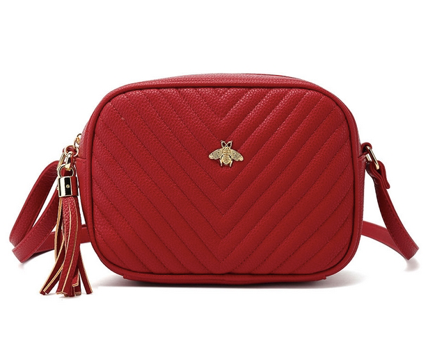 Bella Bee Messenger Bag Red