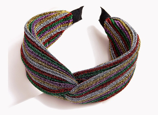 Metallic Rainbow Knot Headband