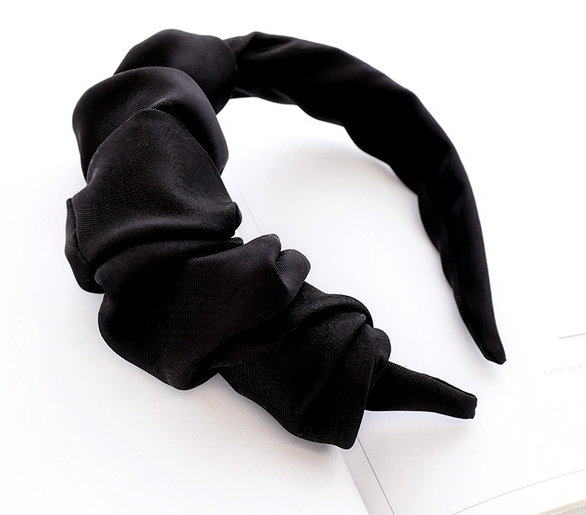 Half Frill Headband Black