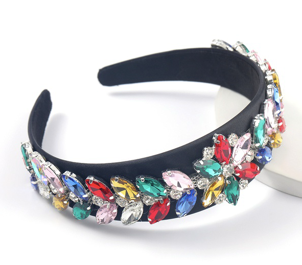 Rainbow Flower Embellished Jewelled Headband