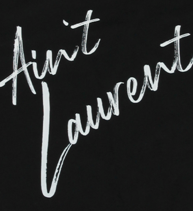 Ain't Laurent Oversized Tshirt in Black