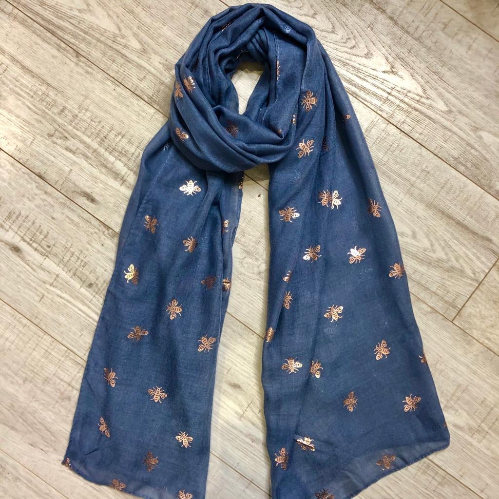 Metallic Bee Scarf
