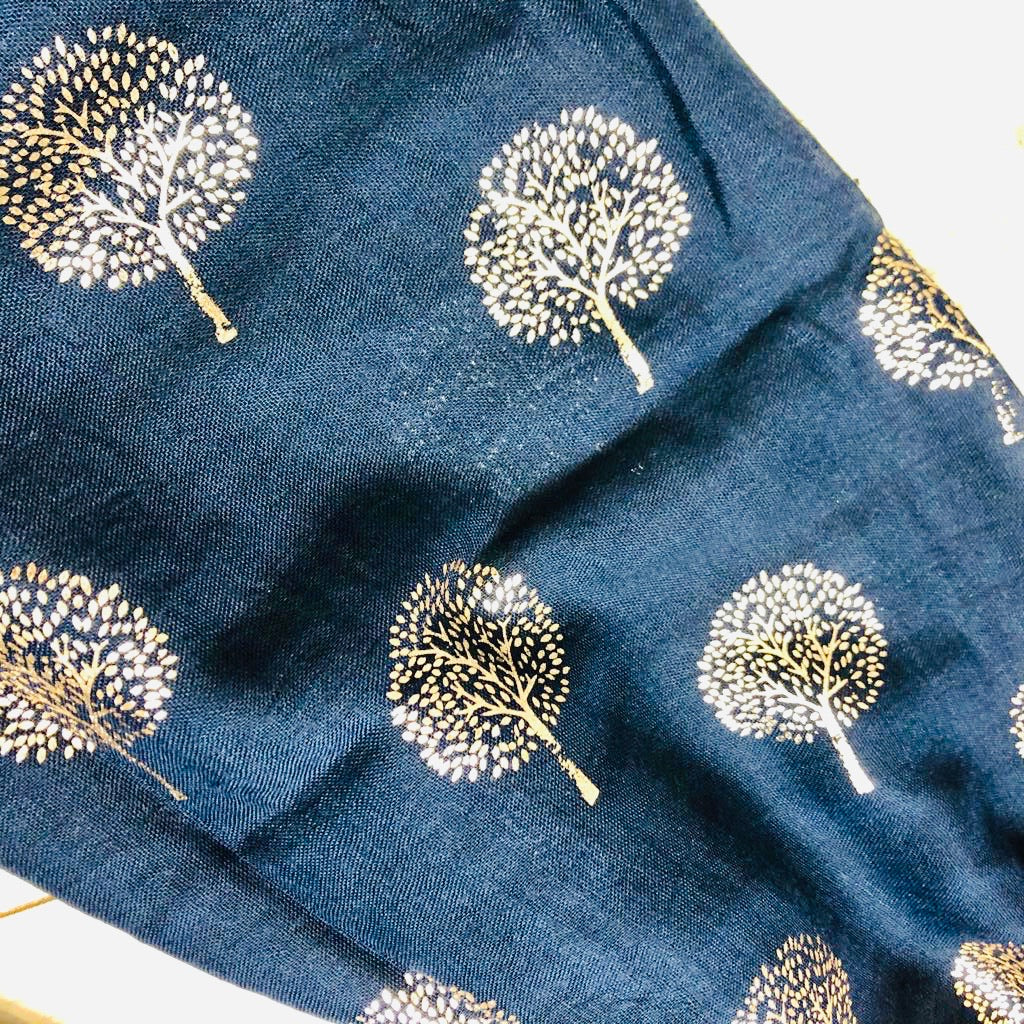 Metallic Mulberry Tree Scarf