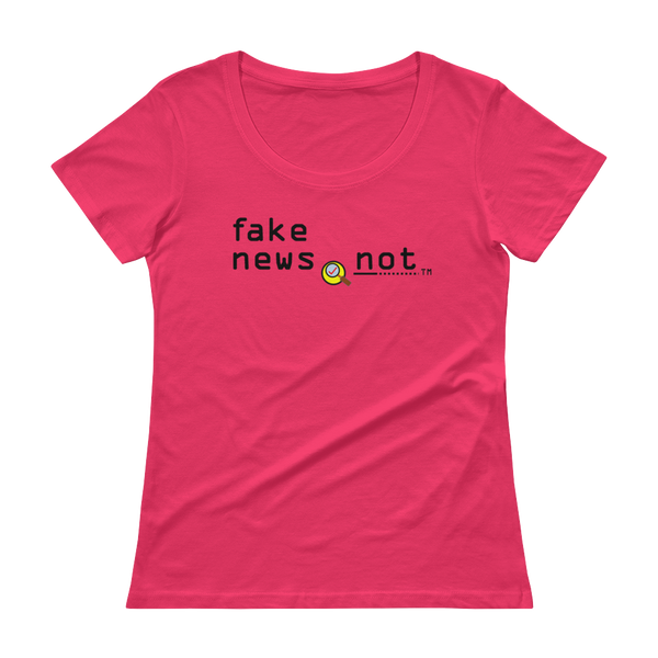 fakenews.not  Anvil 391 Ladies Sheer Scoopneck T-Shirt with Tear Away Label