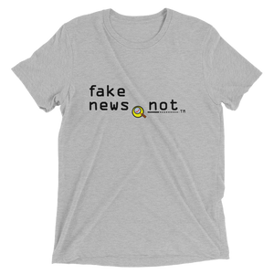 fakenews.not  Bella + Canvas 3413 Triblend Short Sleeve T-Shirt with Tear Away Label