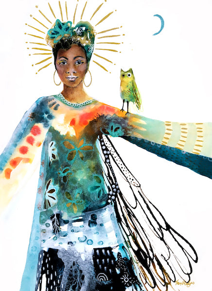 Standing in my Radiance - (Downloadable Art Print)
