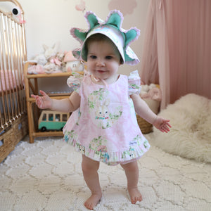 Vintage Easter Bunny Crossover top and frillies