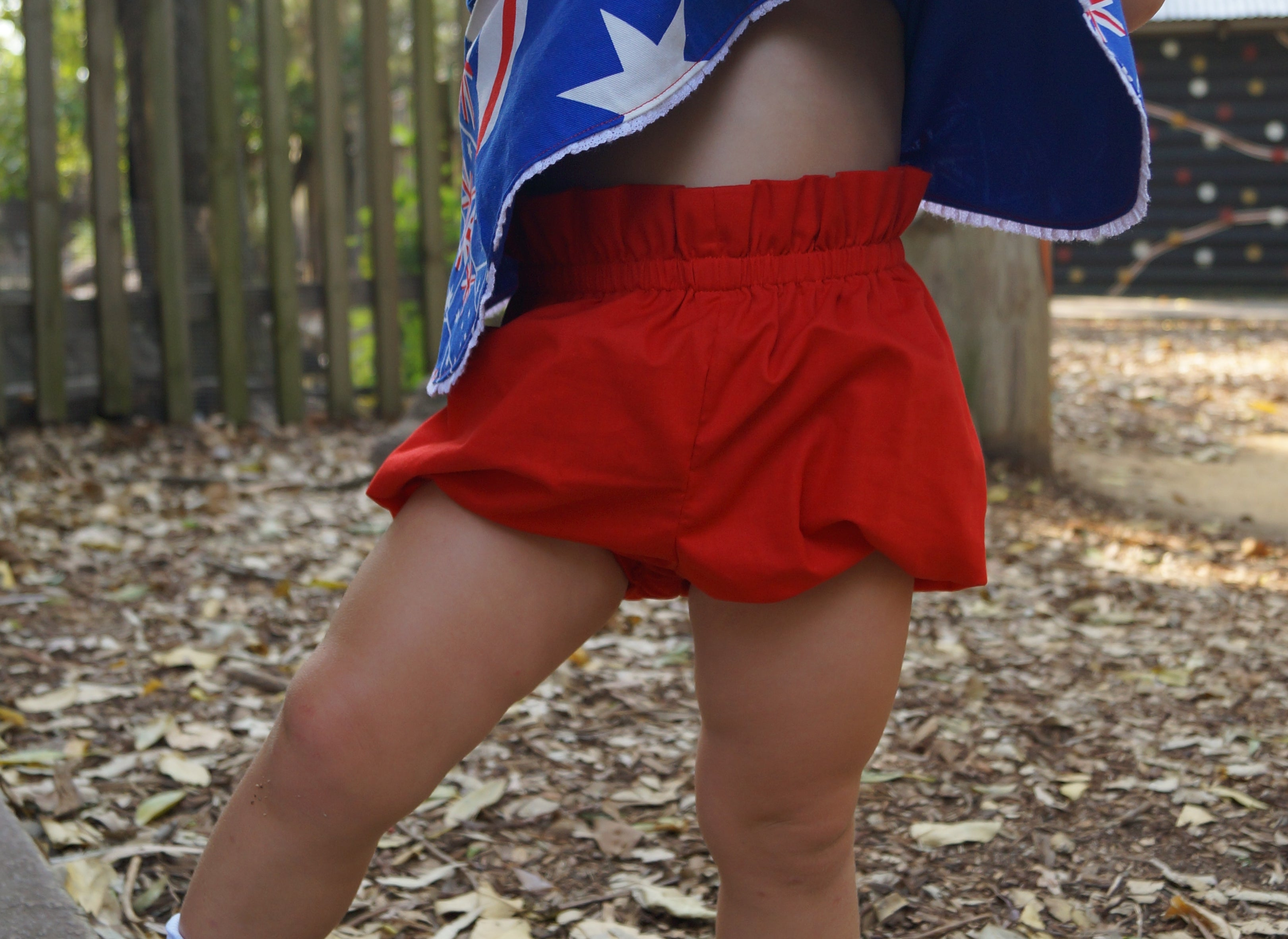 Australia Day crossover tunic and bloomers