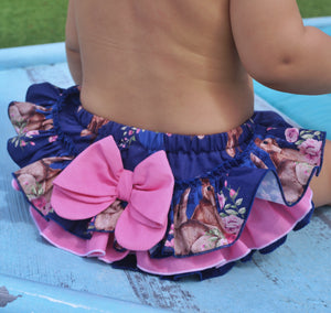 Easter Frilly tushies in navy