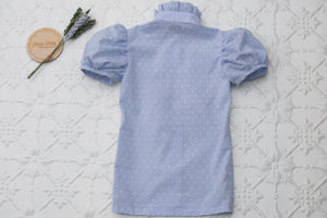 Taylor short sleeved blouse in blue