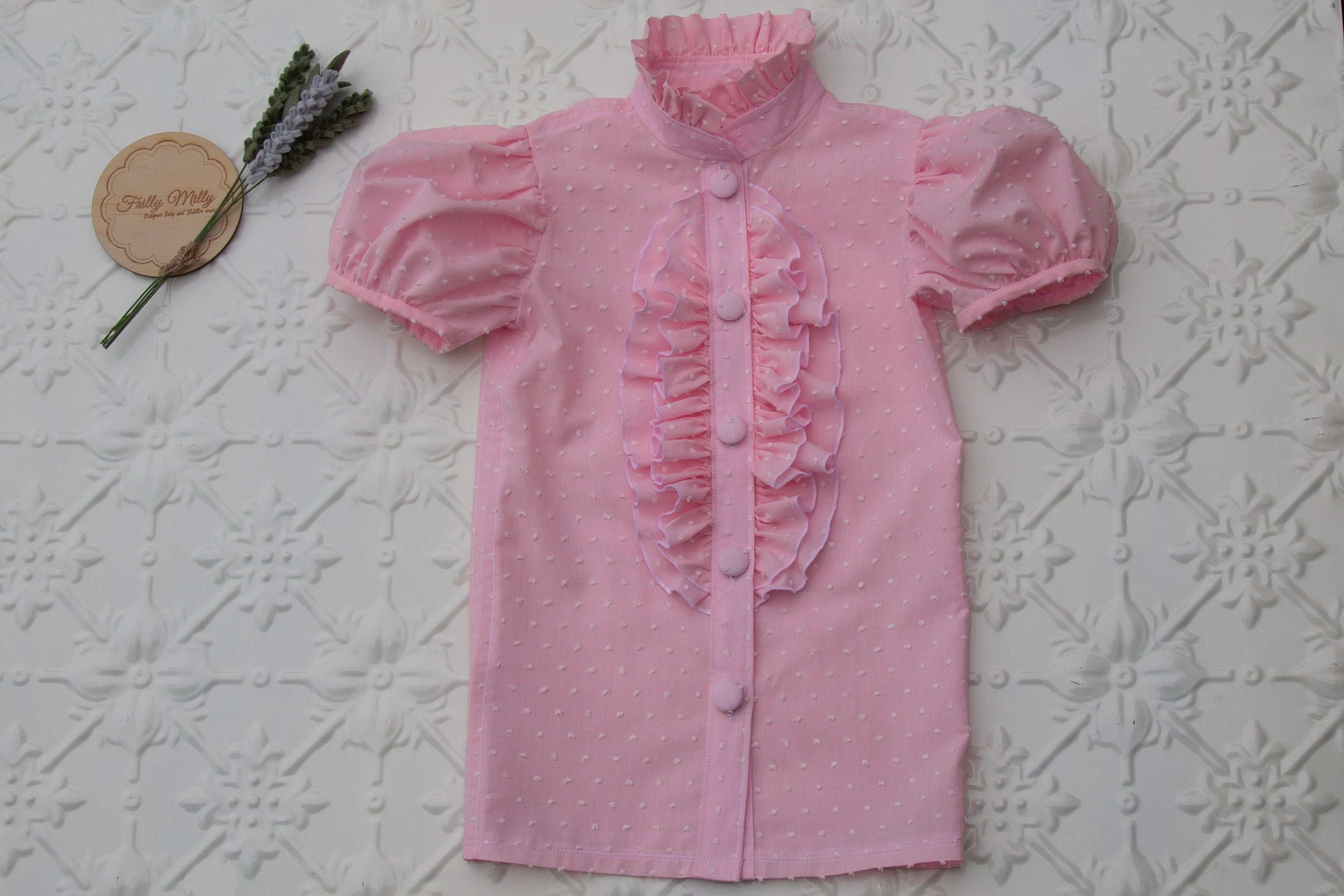 Taylor short sleeved blouse in pink