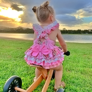 Easter romper in pink