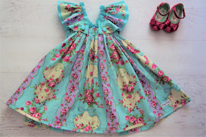 Blue Floral Baby Doll Dress