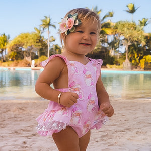 Frilly Milly 2020 Pink Santa frilly romper