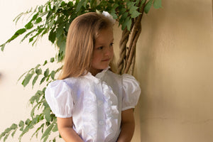 Taylor short sleeved blouse in white