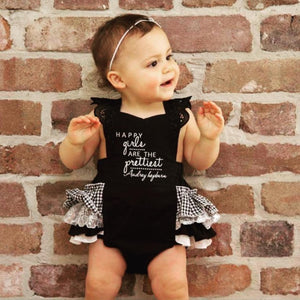 "Frilly Milly ""Audrey Hepburn"" inspired embroidered romper"