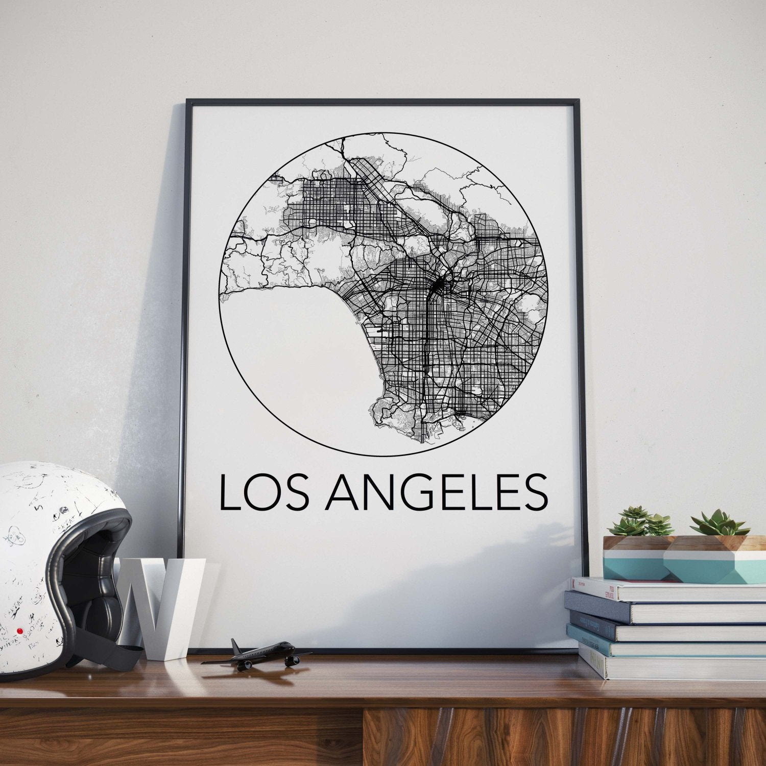 Los angeles california minimalist city map print the neighborhood los angeles california minimalist city map print gumiabroncs Image collections