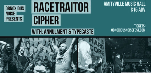 Racetraitor + Cipher + Annulment + Typecaste & more at AMH - April 6th