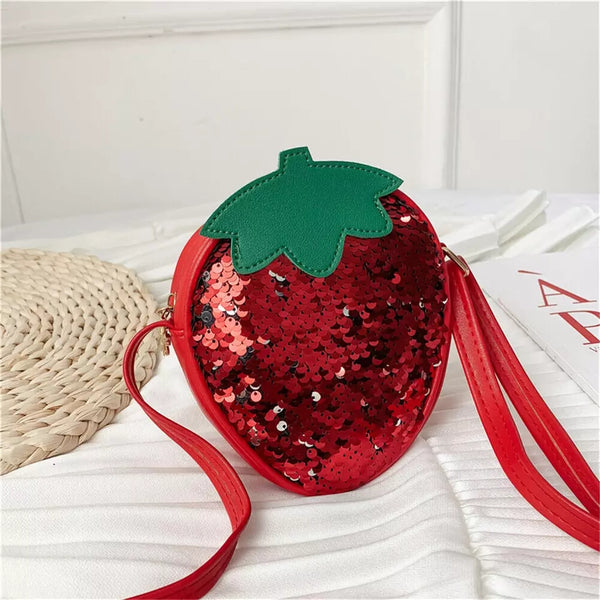 Sequined Strawberry Purse