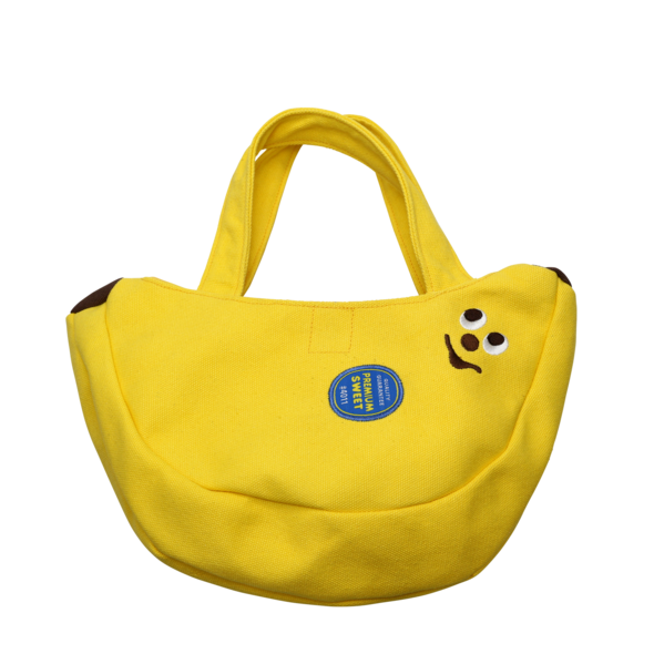 Banana Shaped Canvas Mini Tote Bag