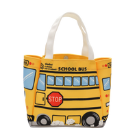 School Bus Canvas Mini Tote Bag