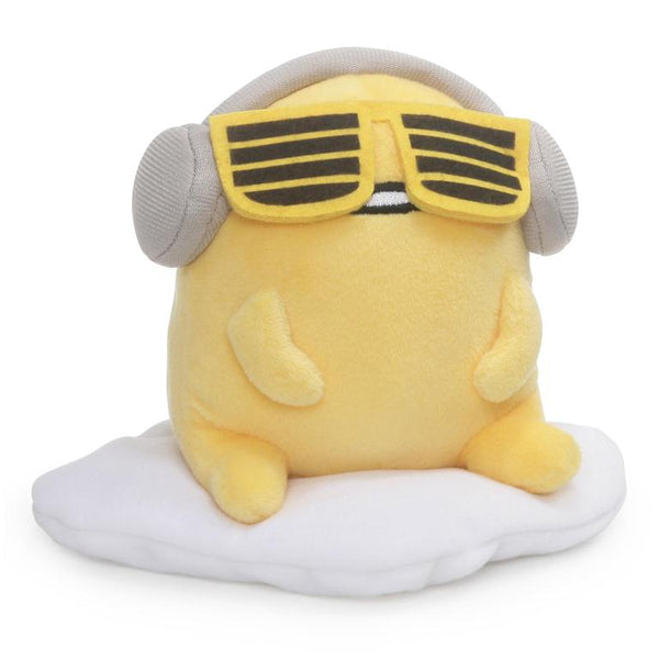 Gudetama Headphones & Sunglasses Sitting Plush 5""
