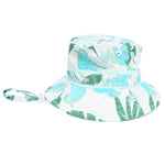 Jungle Leaves Reversible Bucket Hat for Babies