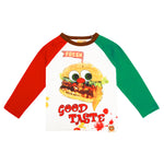"""Good Taste"" Hamburger Raglan Sleeve Shirt by Hot Cheese"